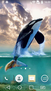 Whale live wallpaper - screenshot
