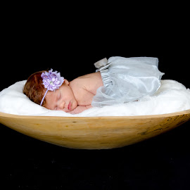 A Bowl of Emilyn by David DeLoach - Babies & Children Babies ( sleeping baby, redhead baby, readhead, baby in a tutu, baby girl, baby, newborn )