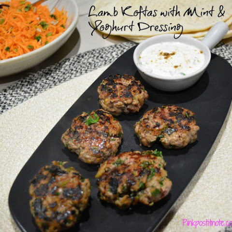 Lamb Koftas with Mint and Yoghurt Dressing