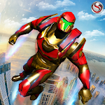 Flying Robot Grand City Rescue For PC / Windows / MAC