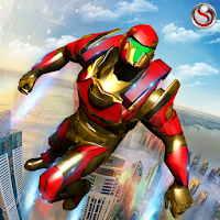 Flying Robot Grand City Rescue For PC (Windows And Mac)