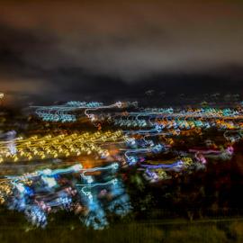 Dana Point at Midnight by Matt Folsom - Abstract Light Painting ( dana point, lpa, night, sunrise )