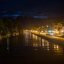 Rio Pereque by Wado Chicchan - City,  Street & Park  Night ( canon, paraty, rj, brasil, river )