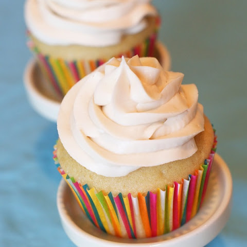 Gluten-Free Vanilla Cupcakes with Dairy-Free Vanilla Buttercream Frosting