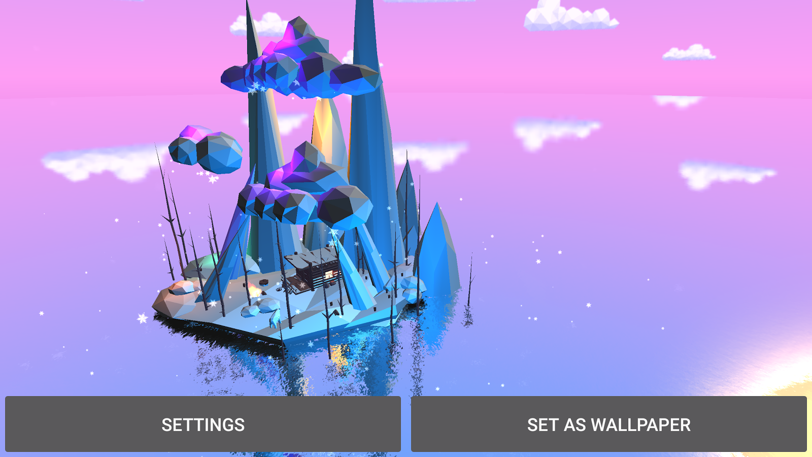 Poly Island 3D Live Wallpaper Screenshot 9