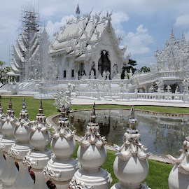 Purity At The White Temple, Wat Rong Khun by Vivian Chew - Novices Only Landscapes ( temple, chiangrai, watrongkhun, white temple, thailand )