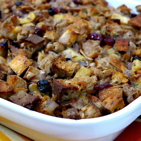 Rustic-Multigrain Stuffing with Nuts and Dried Fruit