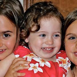 Three happy children. by Peter DiMarco - Babies & Children Children Candids ( happy, children, portraits, smiling, portrait )