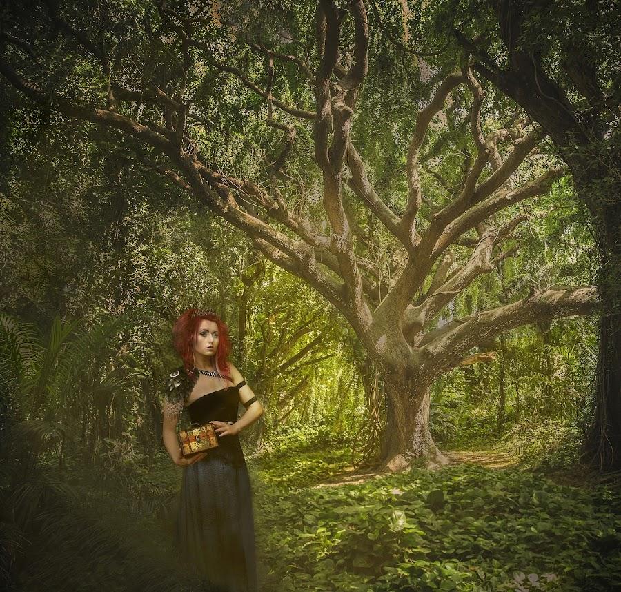 Forest guardian by Michaela Firešová - Digital Art People ( forest, queen, guardian, digital art )
