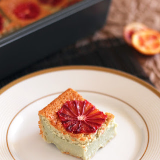 Blood Orange Magic Custard Cake