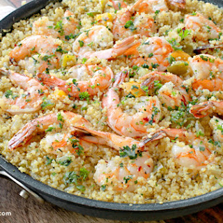 One Pot Garlic Butter Shrimp and Quinoa