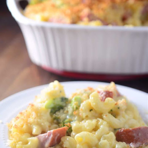 Cheesy Kielbasa Broccoli Casserole
