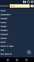 Screenshot of French Braz.Portuguese Dict Fr