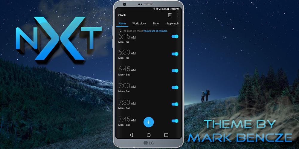 nXt Theme Für LG G6 android apps download