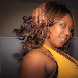 Regina - Model Test Shoot by John Guest - Nudes & Boudoir Boudoir ( african american, makeup, hairstyle, skin, eyes )