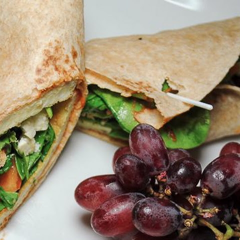 Easy Breakfast Wrap with Eggs, Kale and Feta Cheese