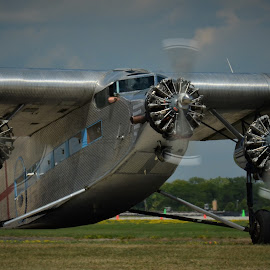Ford Tri Motor by Robert Coffey - Transportation Airplanes ( tri motor, vintage, wings, airplane, ford, propellers )