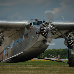 Ford Tri Motor by Robert Coffey - Transportation Airplanes ( tri motor, vintage, wings, airplane, ford, propellers,  )