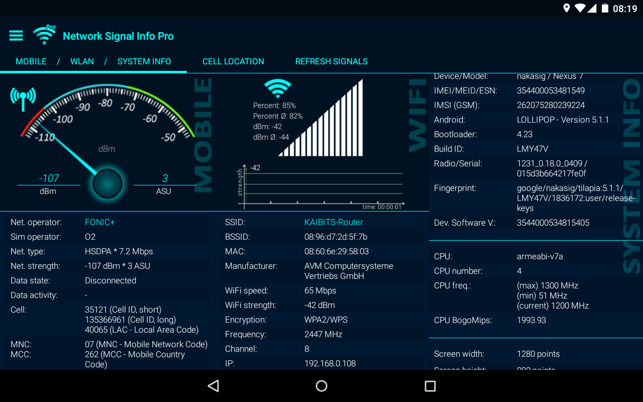 Network Signal Info Pro Screenshot 12