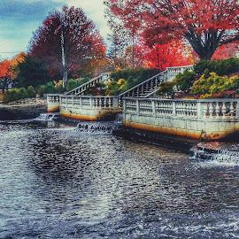 Argyle Park by Gerry Schmitt - Digital Art Places ( nature, park, waterscape, waterfall, public place )