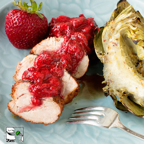 Spicy Grilled Pork Loin with Strawberry-Lime Sauce