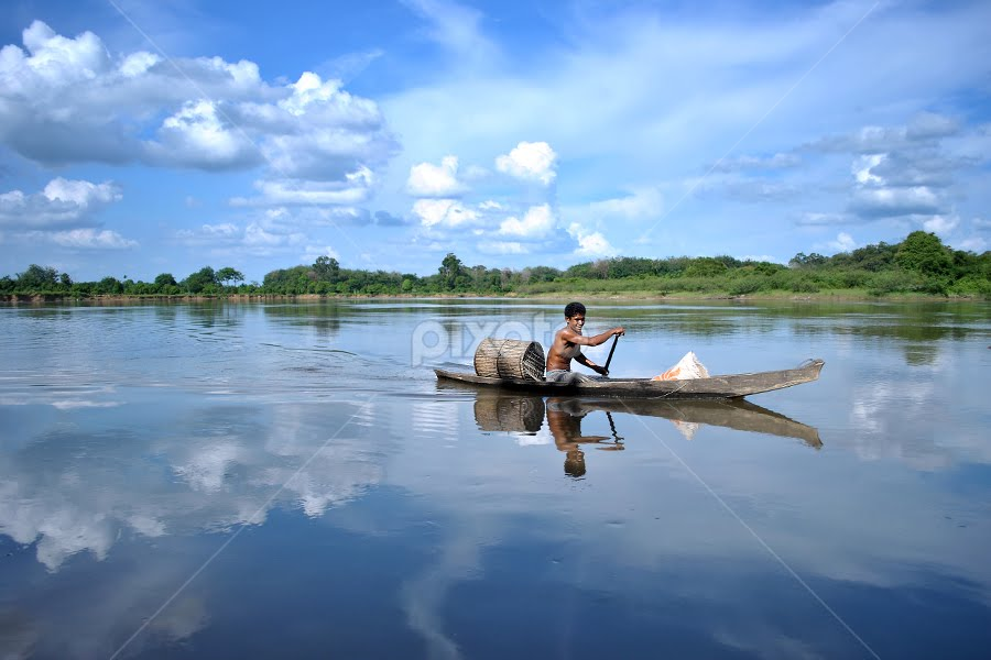 Boat man by Pink Sword - Transportation Boats