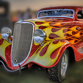 Big Red Ford by Ray Ebersole - Transportation Automobiles ( car, riverfest, rover city park, sand springs, ok, car show )