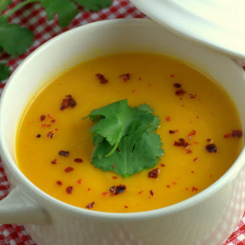 Vegan Zesty Carrot & Sweet Potato Coconut Soup