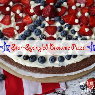 Star-Spangled Brownie Pizza