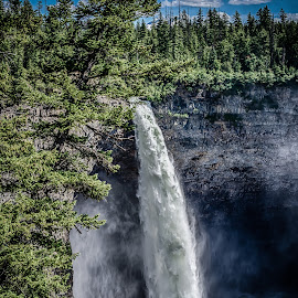 Helmcken Falls in Wells Grey Park, British Columbia by GThomas Muir - Landscapes Mountains & Hills ( waterfall, wells grey park, helmcken falls, waterscapes, british columbia )