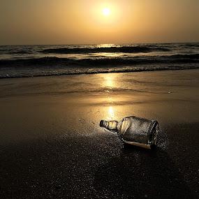 Near yet so far by Ram Seth - Landscapes Beaches ( sand, nature, emptiness, sunset, seascape, beach, golden, golden hour )