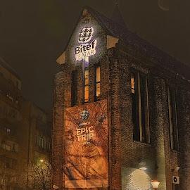 Theater by Mirko Ilić - Buildings & Architecture Public & Historical ( bitef, church, theatre, beograd, night )