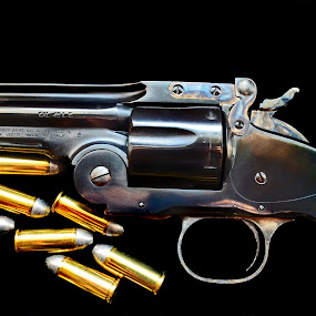 Revolver Hand Gun by JoAnn Palmer - Artistic Objects Other Objects ( replicas, cowboy, vintage, old west, shot, revolver, ammo, gun, country, ccw, guns, shoot, western, hand gun, bullet, shooting )