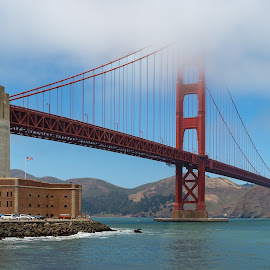 Golden Gate by Mark Ritter - Landscapes Travel ( water, hills, pch, trees, pacific, ocean, golden gate, rocks, coast )
