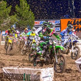 First Turn by Josh Rud - Sports & Fitness Motorsports ( mud, motocross, racing, sports, dirt bike, supercross )