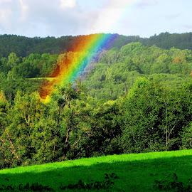 Rainbow by Mārīte Ramša - Landscapes Weather