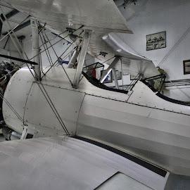 by Christopher Barker - Transportation Airplanes ( cockpit, biplane, museum )