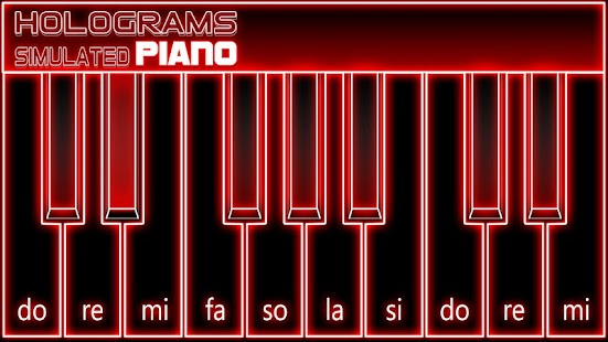 Game Hologram Piano Prank APK for Kindle
