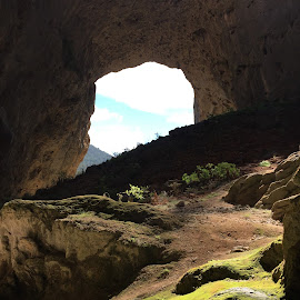 Inside looking out by Lisa Charmer - Landscapes Caves & Formations
