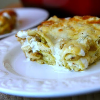 Green Chili and Chicken Lasagna