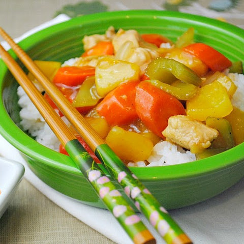 Sweet & Sour Chicken Stir Fry