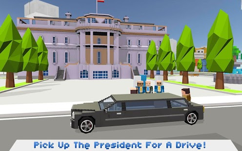 Mr. Blocky White House Driver