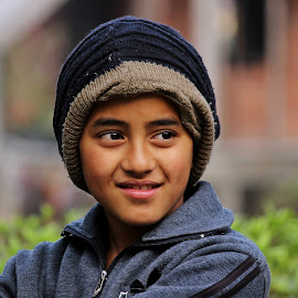 Smiling by Ishaan Sengupta - Babies & Children Child Portraits ( #jacket, #cap, #candid, #smile, #boy )