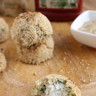 Goat Cheese Stuffed Quinoa Nuggets