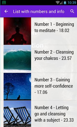 Guided Meditation and Vis. App - screenshot