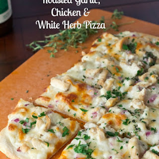 Roasted Garlic White Chicken Pizza