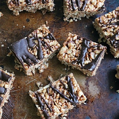 Peanut Butter & Chocolate Rice Krispies Treats