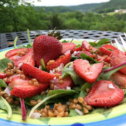 Strawberry Power Salad with Wheat Berries