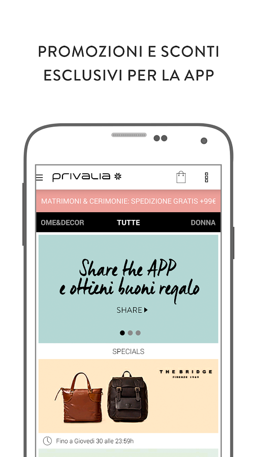Privalia, outlet di moda Screenshot 2