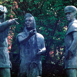 Lewis and Clark by Nancy Bowen - Novices Only Objects & Still Life ( washington, university, statues, historical )